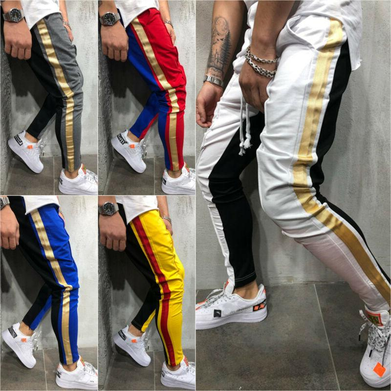 Men Track Pants Casual Bottoms Joggers Gym