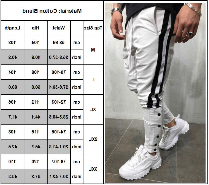 Men Track Casual Sports Jogging Joggers Gym Sweats
