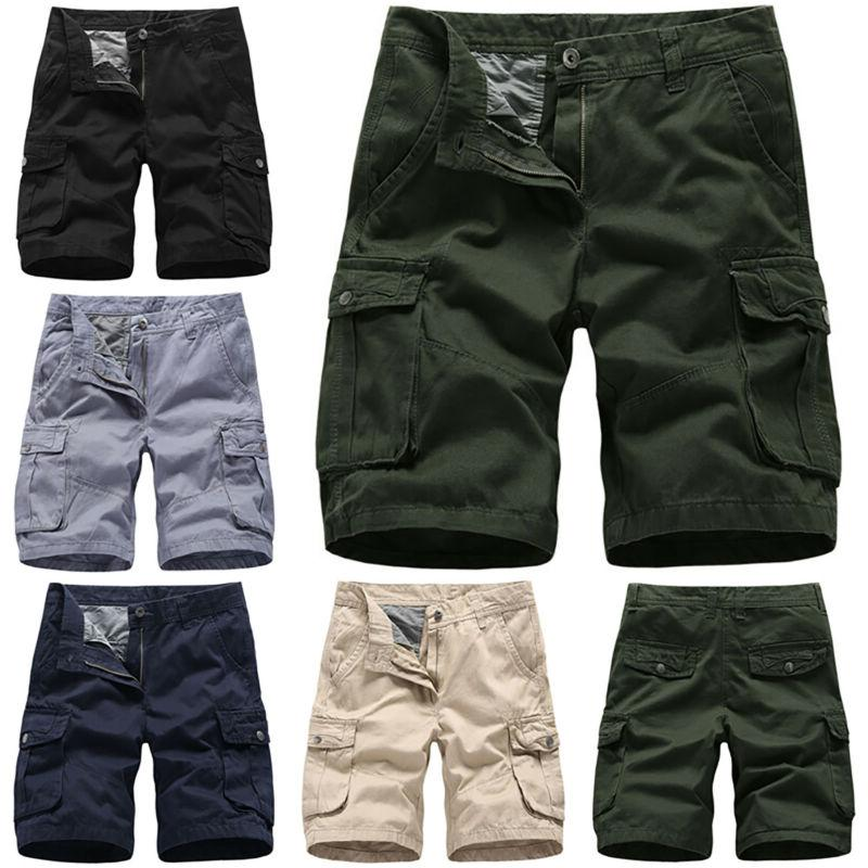 Mens Casual Shorts Army