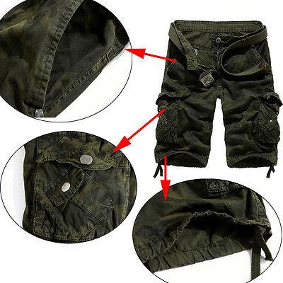 Mens Camo Combat Pants Army Cargo