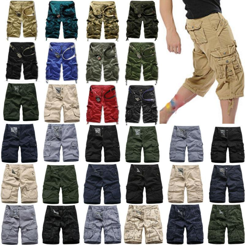 mens casual camo shorts combat short pants