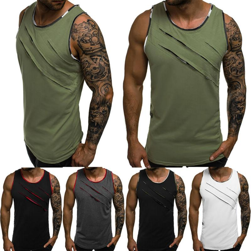 Mens Vest Sleeveless Sport T Shirt Tee Jogger