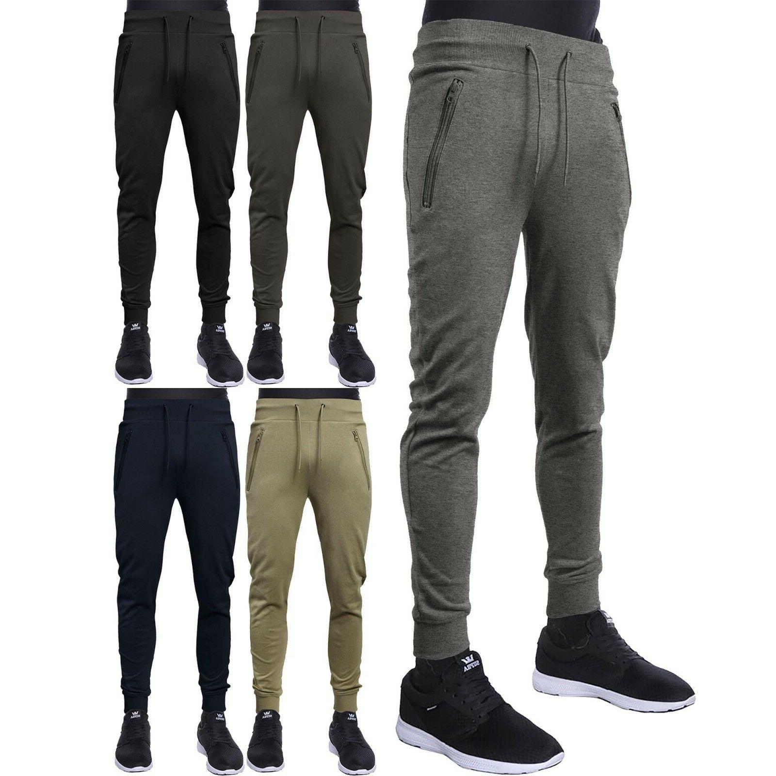 mens casual pants fleece jogger french terry
