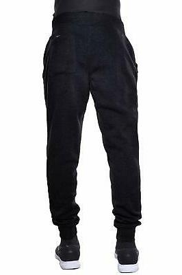Hat and Fleece Jogger Pants 1hc03_black, Medium