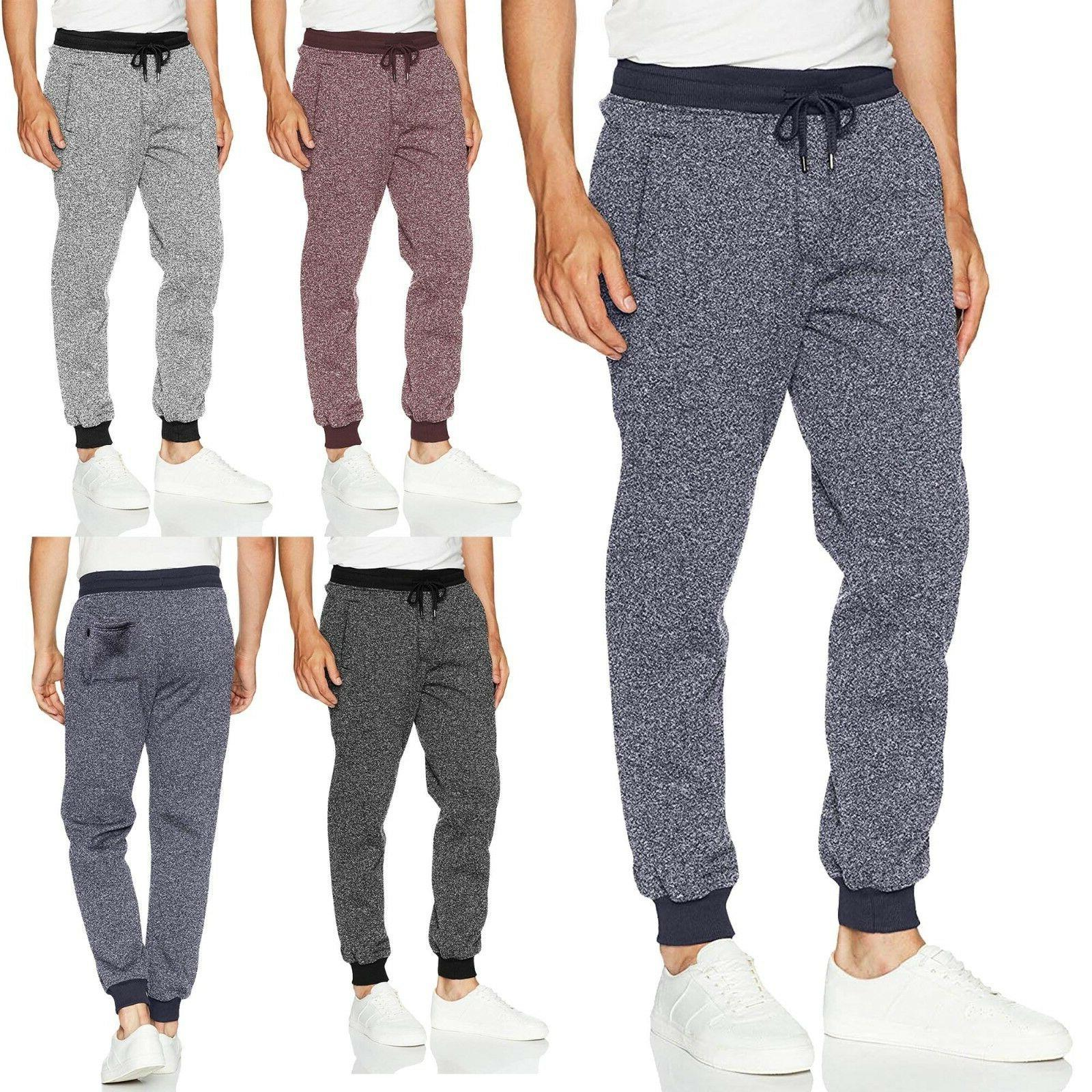 mens marled jogger pants basic brushed fleece
