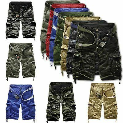 Mens Army Cargo Work Pants Trousers Combat