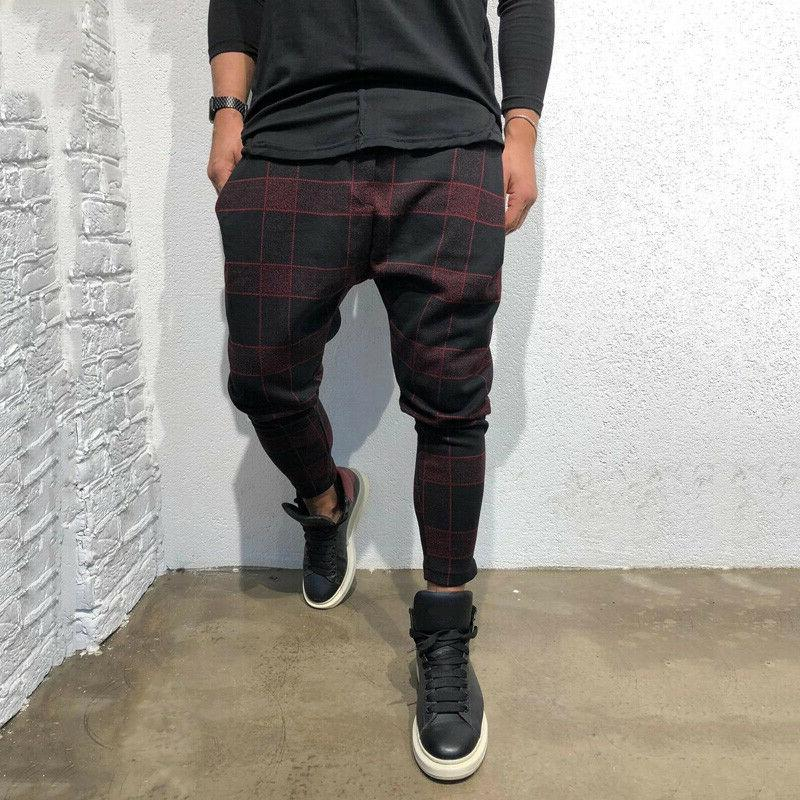 Mens Casual Trousers Joggers Skinny Bottoms Pants