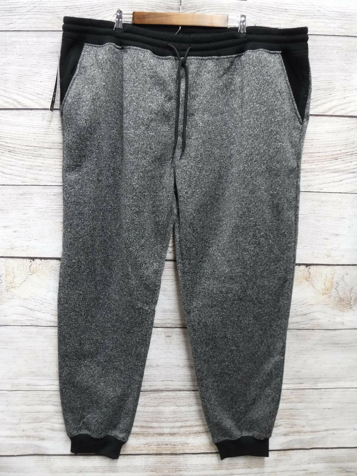 Southpole Mens Size 6XB Marled Black Fleece Slim Fit Jogger