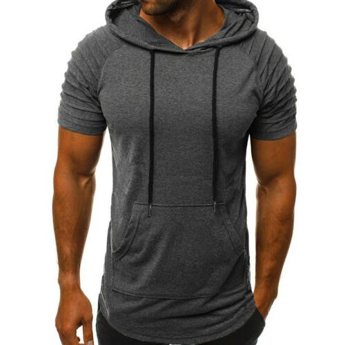 Mens Fit Gym Muscle Top Sports Blouse