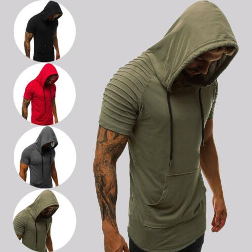 Mens Slim Gym Top Sports Blouse