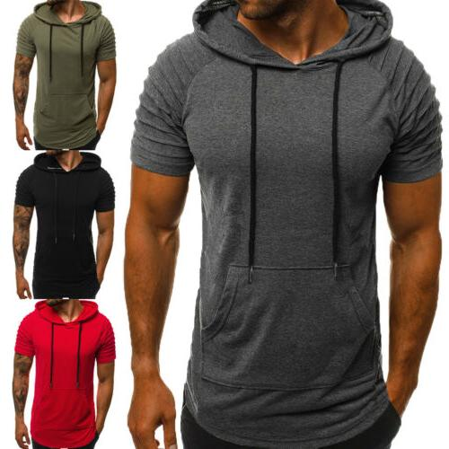 Mens Athletic Gym Top Short Sleeve Blouse