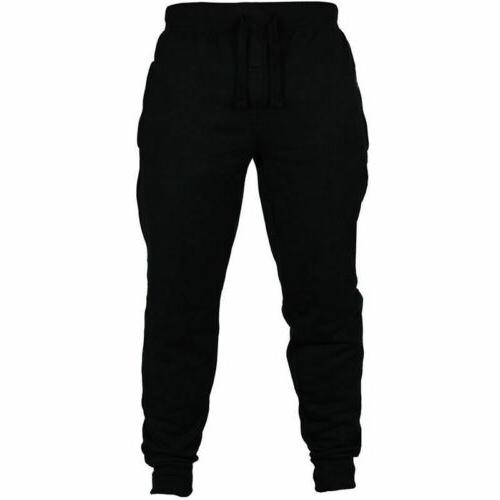 Mens Fit Tracksuit Sport Gym Skinny Joggers US