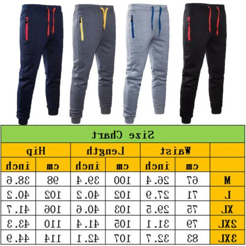 Mens Sport Trousers Tracksuit Gym Fitness Workout Joggers Sweatpants