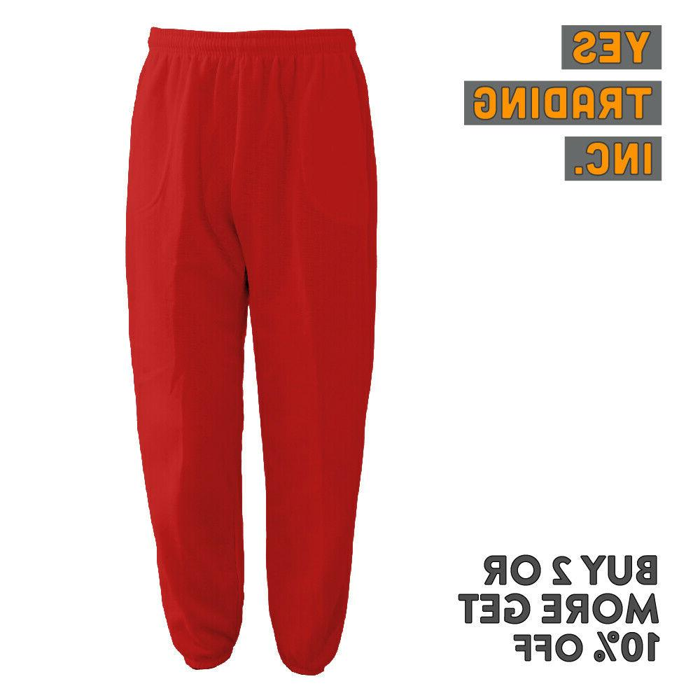 MENS UNISEX SWEATPANTS 3 POCKET JOGGERS FLEECE GYM