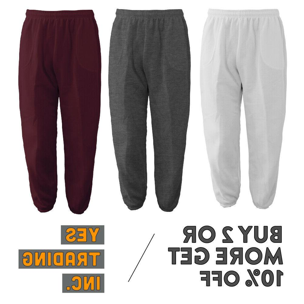 mens womens casual sweatpants plain joggers fleece