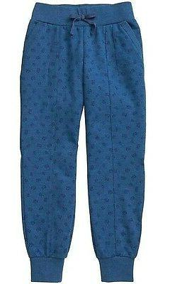 NEW GAP Kids Girls XS 4T - 5T Blue Floral Terry Joggers Pant