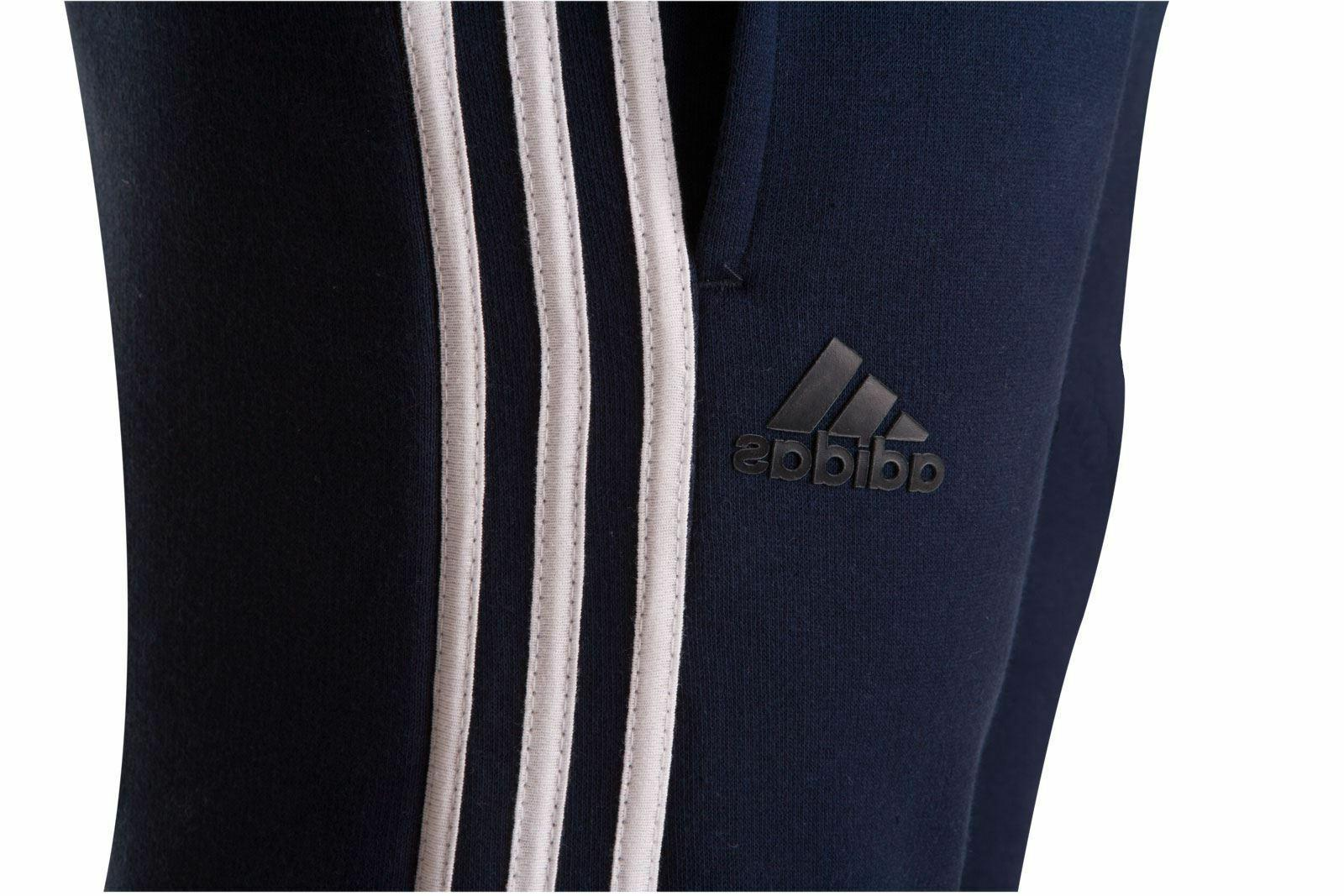 New Men's Adidas Athletic Gym Muscle Pants SMU Linear Stripe