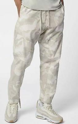 Nike NSW Woven Camo Joggers Light Bone White Men Sportswear