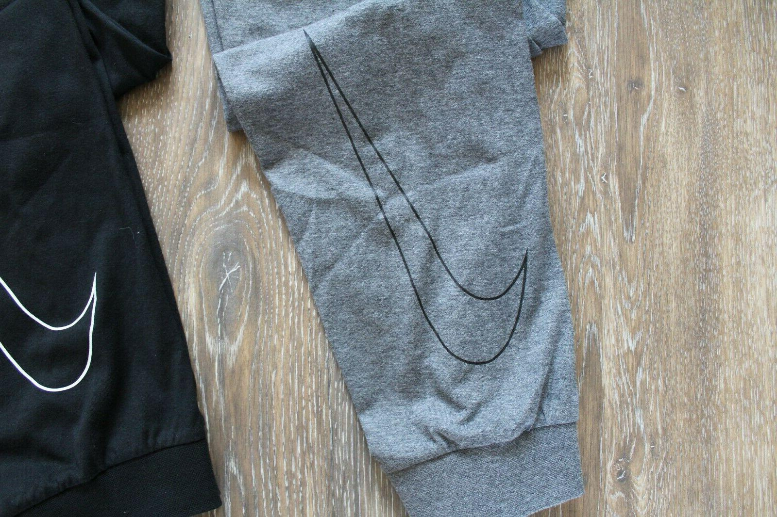 NWT Fleece Jersey Sweatpants Gray Black Blue