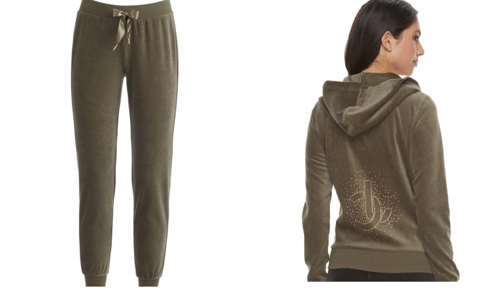 nwt velour tracksuit woman graphic jacket jogger