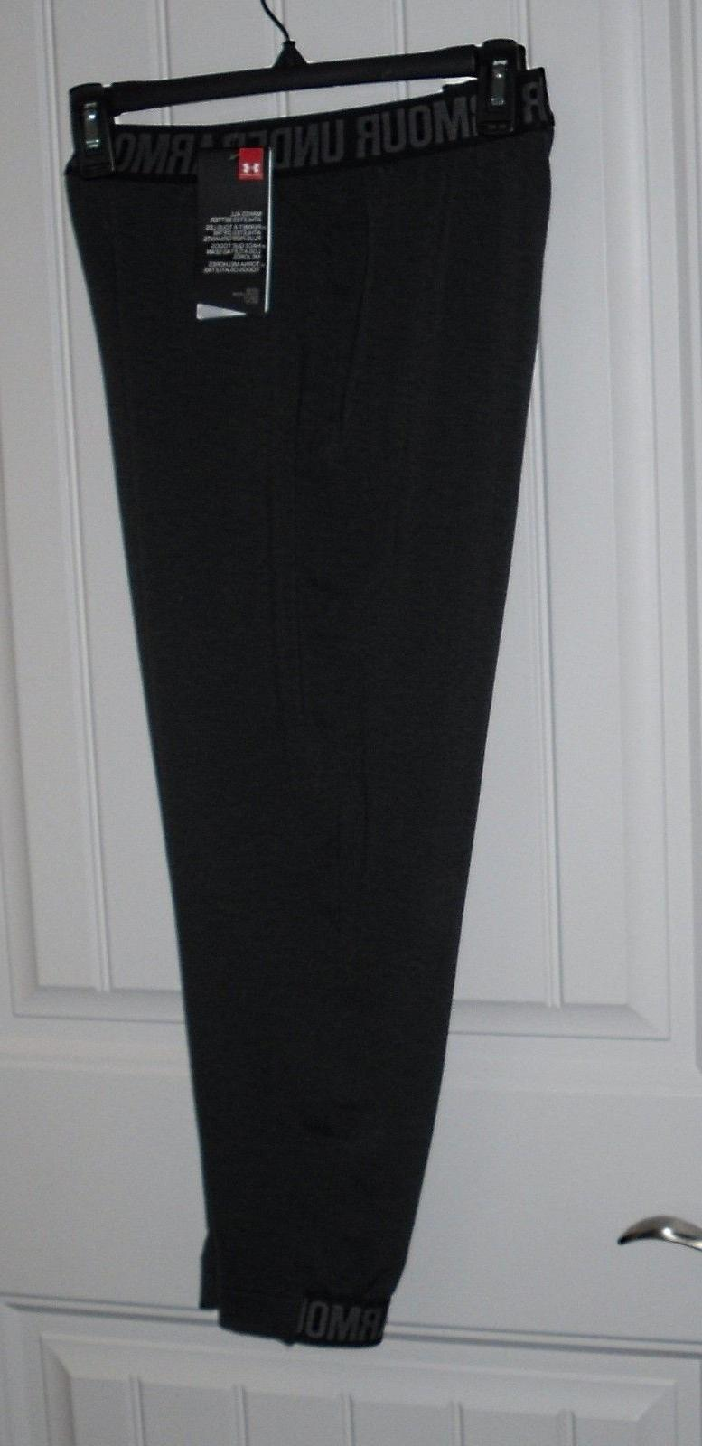 nwt womens heatgear black jogger athletic capri