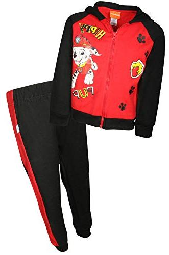 paw patrol boys 2 piece fleece zip