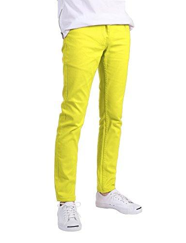 skinny fit jeans neon yellow
