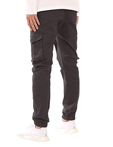 JD Men's Fit Drawstring Cargo Jogger Pants Charcoal