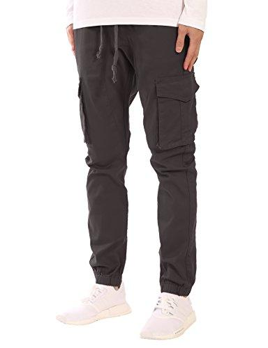 slim fit drawstring cargo jogger
