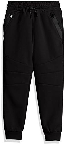 Southpole Little Boys' Kids Tech Fleece Jogger Pants, Black,