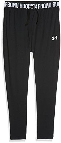 Under Armour Girls' Tech Jogger,Black /White, Youth Medium