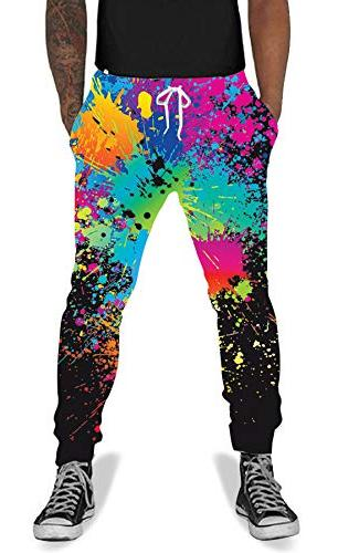 teen boys girls 3d printed splatter baggy