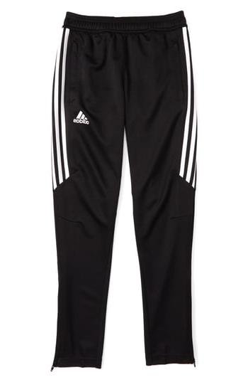 Boy's Adidas Tiro 17 Training Pants, Size L  - Black