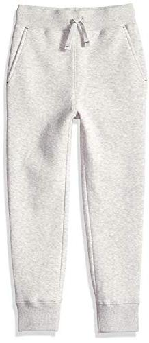 Amazon Essentials Toddler Boys' Fleece Jogger, Heather Grey,