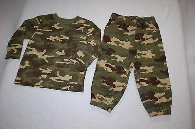 toddler boys outfit green beige camouflage woven