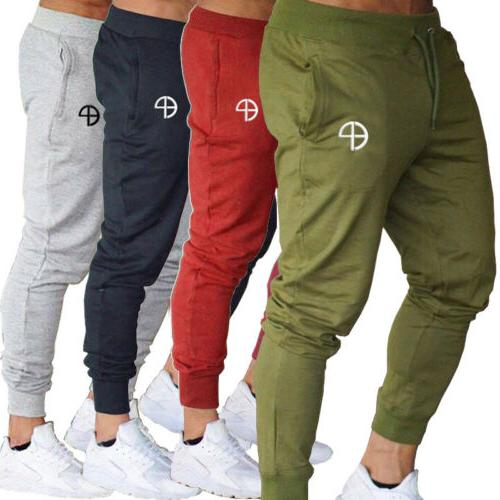 US Jogger Sports Gym Running Track Trousers Sweatpants