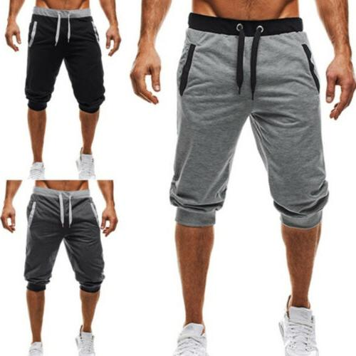US Men Sport 3/4 Pants Casual Slack Jogging Sweatpant Jogger
