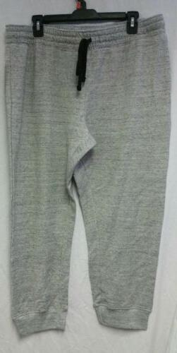 Women's French Terry Jogger Capris Gray Size XL