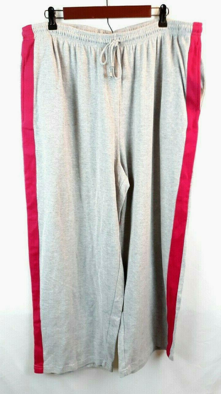 women s jogging pants grey pink striped