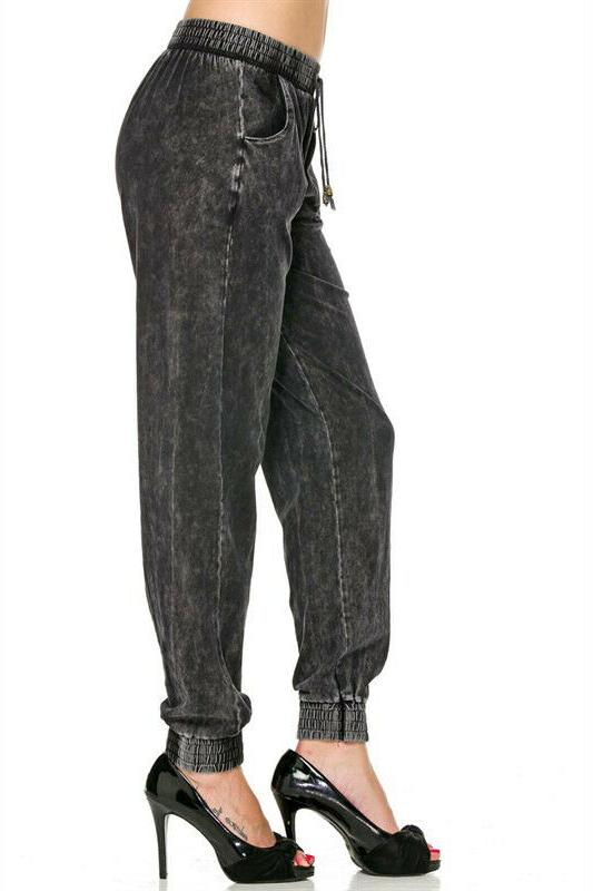 Women's Rise Soft Cotton Knit Denim Jogger