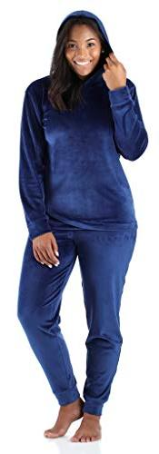 Sleepyheads Women's Sleepwear Velvet Velour Hooded Loungewea
