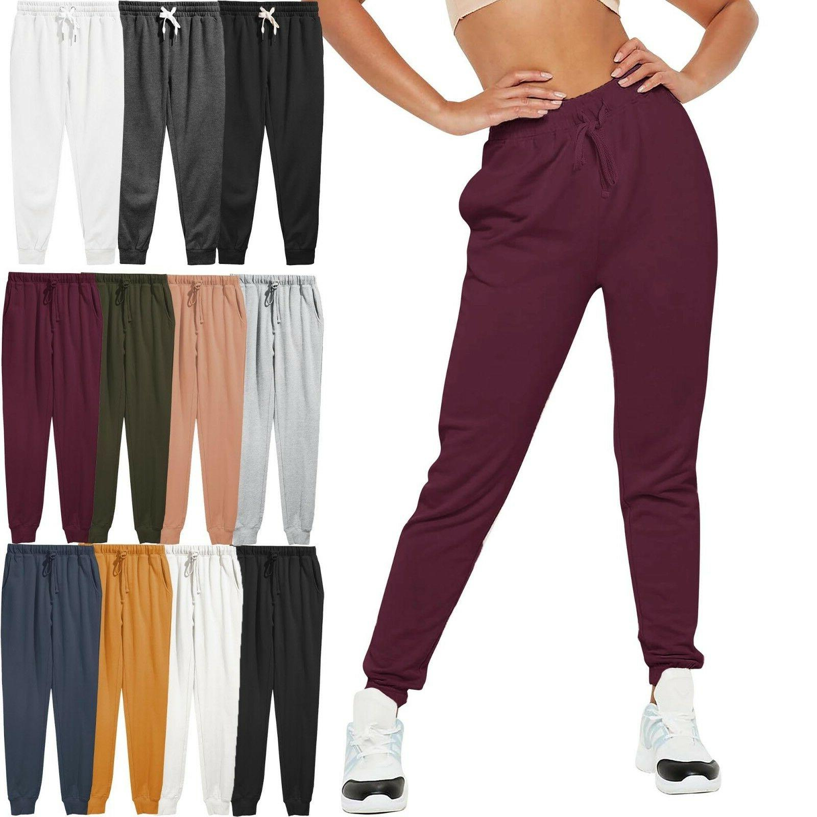 womens french terry jogger pants sweatpants active