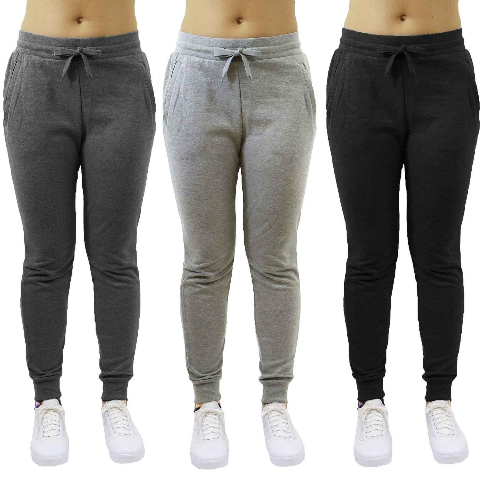 womens french terry jogger sweatpants slim fit