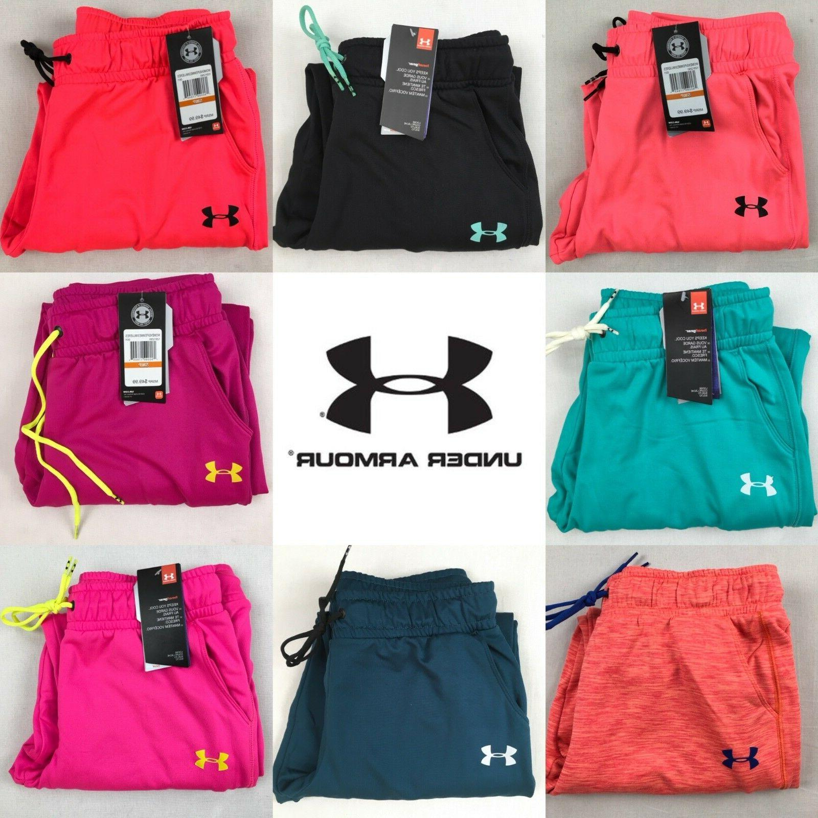 Womens Under Armour Joggers UA Coldgear Logo Tech Loose Swea