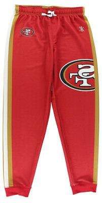 Klew Womens San Francisco Niners Jogger Pants Red S