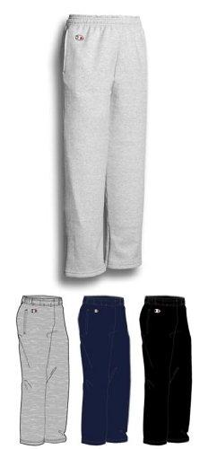 Champion Youth 9 oz 50/50 Open Bottom Sweatpants, LIGHT STEE