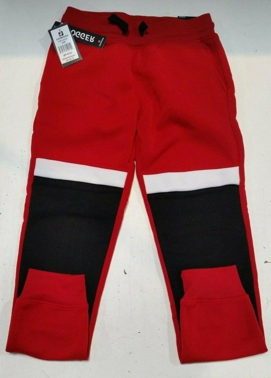 youth boys red joggers size l 18125