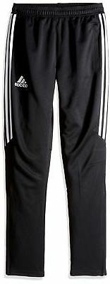adidas Youth Soccer Tiro 17 Pants Black/White/White Small