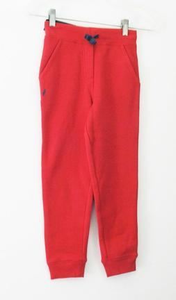 Polo Ralph Lauren Little Boys Fleece Jogger Pants Red Sz 5 -