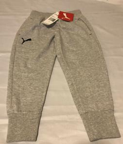 PUMA Little Boys' French Terry Joggers,size 4-Light Heather